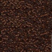 Miyuki Delica Perlen 1,6mm DB1393 colorlined sparkly Golden Brown Chocolate ca 5gr
