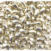 Miyuki Tropfen Perlen 3x5,5mm 4201 Duracoat galvanized Silver ca 25gr