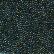 Miyuki Rocailles Perlen 2mm 0453 metallic rainbow Green ca 12gr
