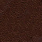 Miyuki Rocailles Perlen 2mm 0419 opaque Chocolate Brown ca 12gr