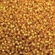 Miyuki Rocailles Perlen 1,5mm 4231 Duracoat Silverlined Maize ca 11gr