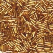 Miyuki Stäbchen Perlen Bugle Beads 3mm 0191 24 Karat Gold Plated ca 10gr