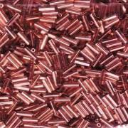 Miyuki Stäbchen Perlen Bugle Beads 6mm 0197 Copperlined Crystal ca 10gr