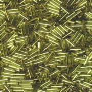 Miyuki Stäbchen Perlen Bugle Beads 6mm 0014 silverlined Chartreuse ca 10gr