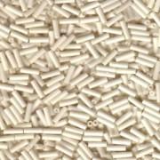 Miyuki Stäbchen Perlen Bugle Beads 6mm 2021 opaque matt Cream ca 10gr