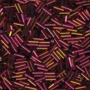 Miyuki Stäbchen Perlen Bugle Beads 6mm 0301 dark rainbow Topaz Gold ca 10gr