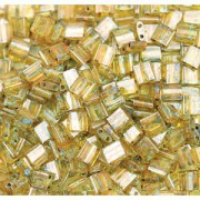 Miyuki Tila Picasso Perlen 5mm transparent Saffran TL4501 ca 7,2gr