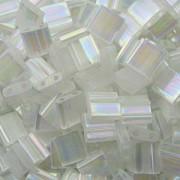 Miyuki Tila Perlen 5mm rainbow silk satin Crystal TL2549 ca 7,2gr