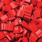 Miyuki Tila Perlen 5mm opaque Red TL0408 ca 7,2gr