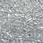 Miyuki Dreieck Perlen, Triangle Beads 3mm 1105 colorlined Silver ca13gr