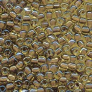 Miyuki Dreieck Perlen, Triangle Beads 3mm 1162 colorlined Gold Brown ca13gr