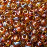 Miyuki Rocailles Picasso Perlen 4mm 4501 transparent Saffron ca 20gr