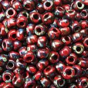 Miyuki Rocailles Picasso Perlen 4mm 4513 matt Red Garnet ca 20gr