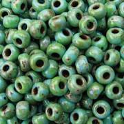 Miyuki Rocailles Picasso Perlen 4mm 4514 matt Seafoam Green ca 20gr