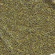 Miyuki Rocailles Perlen 1,5mm 1889 transparent luster Gold Olive ca 11gr