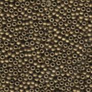 Miyuki Rocailles Perlen 3mm 2006 metallic matte Bronze ca 13gr