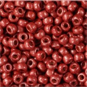 Miyuki Rocailles Perlen 3mm 4208F frosted Duracoat galvanized Berry ca 22gr