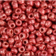 Miyuki Rocailles Perlen 2mm 4211F frosted Duracoat galvanized Blight Cranberry ca 23,5gr