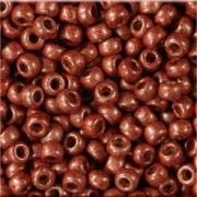 Miyuki Rocailles Perlen 3mm 4212F frosted Duracoat galvanized Dark Berry ca 22gr