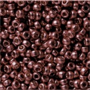 Miyuki Rocailles Perlen 3mm 4213F frosted Duracoat galvanized Dark Mauve ca 22gr