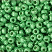 Miyuki Rocailles Perlen 2mm 4214F frosted Duracoat galvanized Dark Mint Green ca 23,5gr