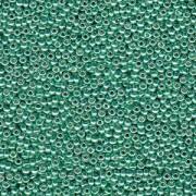 Miyuki Rocailles Perlen 1,5mm 4214 Duracoat galvanized Dark Mint Green ca 11gr