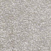 Miyuki Rocailles Perlen 2,2mm 0001 oder 9660-054 silverlined Crystal ca 10gr