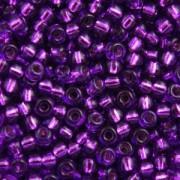 Miyuki Rocailles Perlen 2,2mm 1345 oder 9660-864 silverlined Lilac ca 10gr