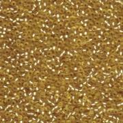 Miyuki Rocailles Perlen 2,2mm 1902 oder 9660-104 silverlined semimatt Gold ca 10gr