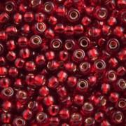 Miyuki Rocailles Perlen 2,2mm 2427 oder 9660-334 silverlined Siam ca 10gr