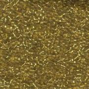 Miyuki Rocailles Perlen 2mm 0195 24 Karat Gold lined Chrystal ca 12gr