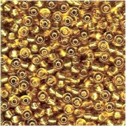 Miyuki Rocailles Perlen 4mm 0003 transparent silverlined Gold 20gr