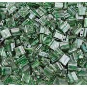 Miyuki Tila Picasso Perlen 5mm transparent spotted Jade TL4507 ca 7,2gr