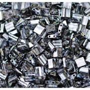 Miyuki Tila Picasso Perlen 5mm matt Smoky Black TL4511 ca 7,2gr
