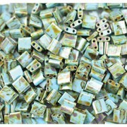 Miyuki Tila Picasso Perlen 5mm matt Seaoam Green TL4514 ca 7,2gr