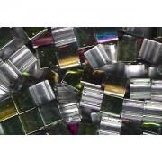 Miyuki Tila Special Plating Perlen 5mm Crystal Iridescent Chrome TL4552 ca 7,2gr