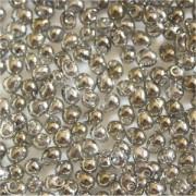 Miyuki Tropfen Perlen 3,4mm 1881 transparent luster Gold Grey 10gr