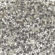 Miyuki Quarter Tila Beads 5x1.5mm Nickel Plated ca. 7gr
