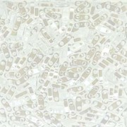 Miyuki Quarter Tila Beads 5x1.5mm opaque luster White ca. 7gr