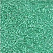 Miyuki Rocailles Perlen 2mm 0218 insinde colorlined Light Aqua 12gr