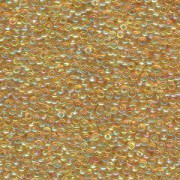 Miyuki Rocailles Perlen 2mm 0251 transparent rainbow Light Gold 12gr
