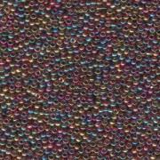 Miyuki Rocailles Perlen 2mm 0257 transparent rainbow Purple Amber 12gr
