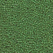 Miyuki Rocailles Perlen 2mm 0431 opaque luster Medium Green 12gr