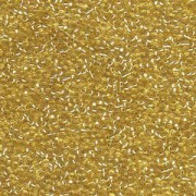 Miyuki Rocailles Perlen 1,5mm 0003 transparent silverlined Gold ca 11gr