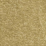 Miyuki Rocailles Perlen 1,5mm 1522 Crystal sparkling Gold lined ca 11gr
