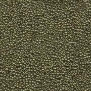 Miyuki Rocailles Perlen 1,5mm 2032 metallic matte Olive Gold ca 11gr