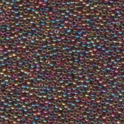 Miyuki Rocailles Perlen 3mm 0257 transparent rainbow Purple- Amber ca 13gr
