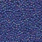 Miyuki Rocailles Perlen 3mm 0414FR opaque opaque matte rainbow Cobalt Blue ca 13gr
