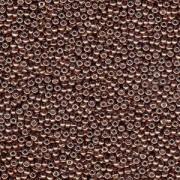 Miyuki Rocailles Perlen 3mm 4213 Duracoat galvanized Dark Mauve ca 22gr