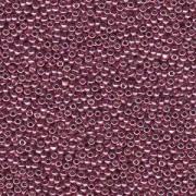 Miyuki Rocailles Perlen 3mm 4218 Duracoat galvanized Dusty Orchid ca 22gr